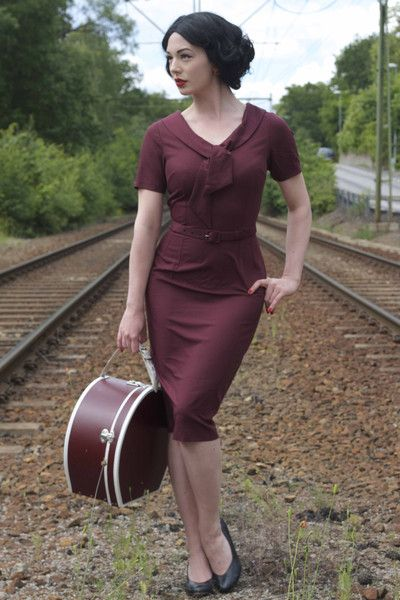 Daisy Dapper Collection Monia Burgundy Dress at Campbell Crafts