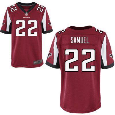 New Falcons 22 Asante Samuel Nike Elite Jersey Red Team Color