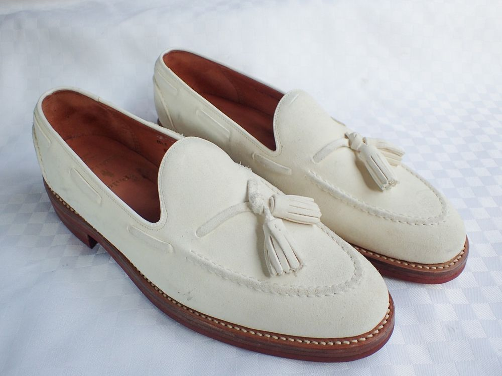 c3468eb8ff1d RALPH LAUREN POLO MENS WHITE SUEDE LEATHER TASSEL LOAFERS SHOES RED SOLES  SIZE 9  fashion  clothing  shoes  accessories  mensshoes  casualshoes (ebay  link)