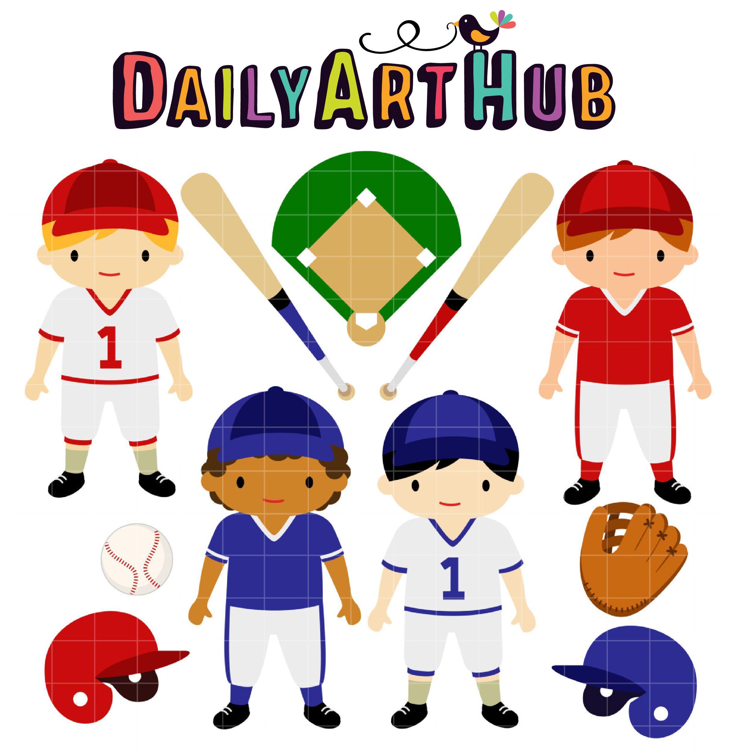 Baseball Kids Clip Art Set Daily Art Hub Free Clip Art Everyday Kids Clipart Clip Art Art Hub