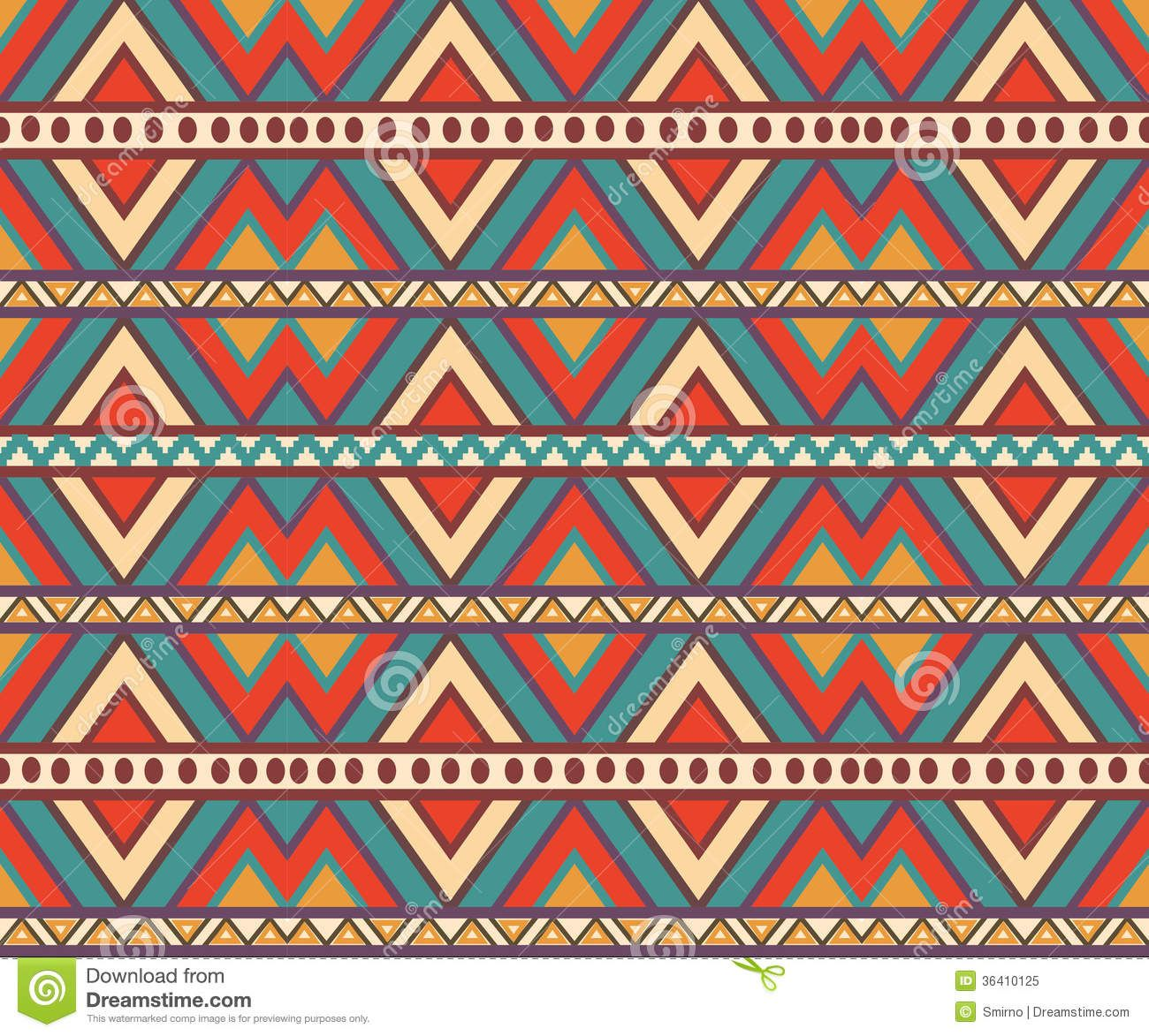 Bright Aztec Print Background