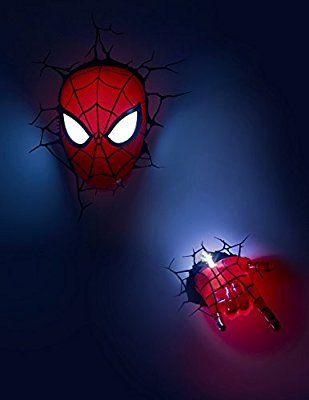 3d Light Fx Marvel Spiderman Hand 3d Deco Led Wall Light Discontinued By Manufacturer Avengers Wall Lights Marvel 3d Wall Light Wall Lights