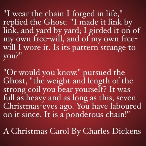 My Favorite Quotes from A Christmas Carol #16 - It is a ponderous ...