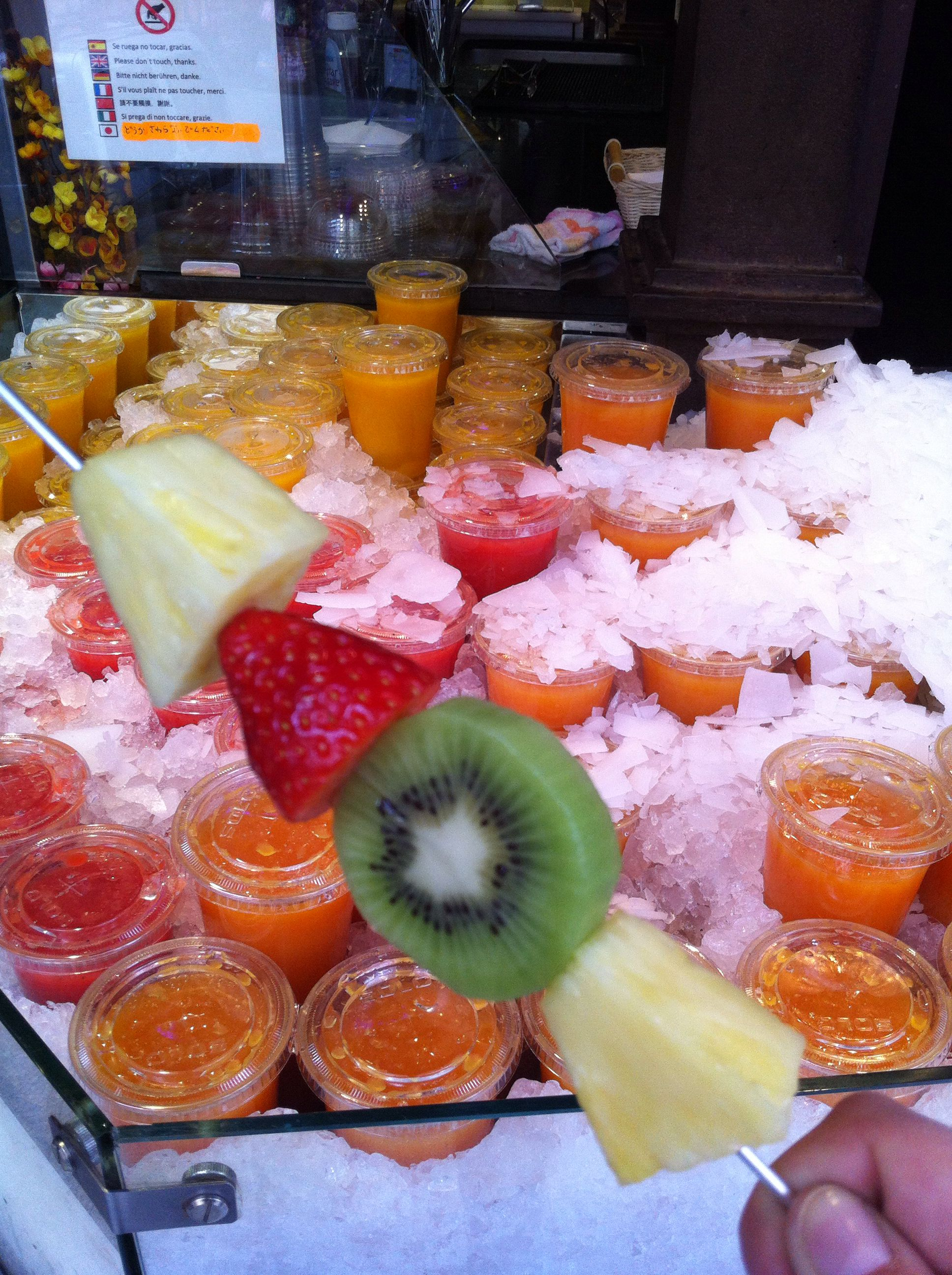 Pinchito de fruta