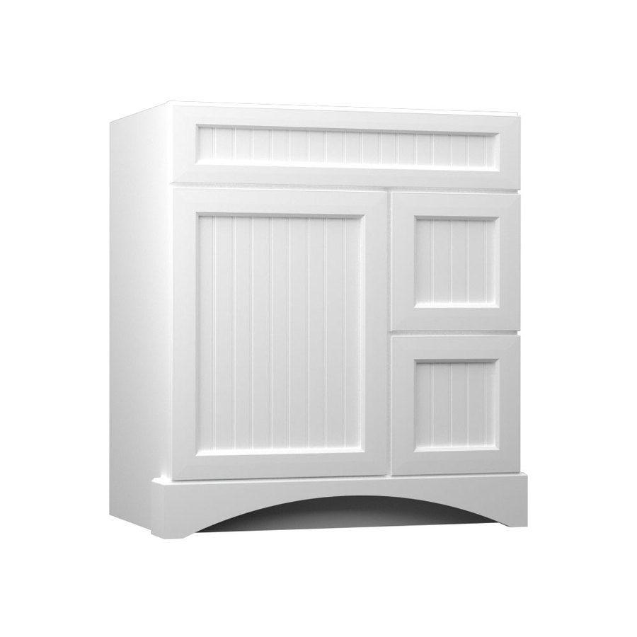 Shop KraftMaid Summerfield Nordic White Casual Bathroom Vanity ...