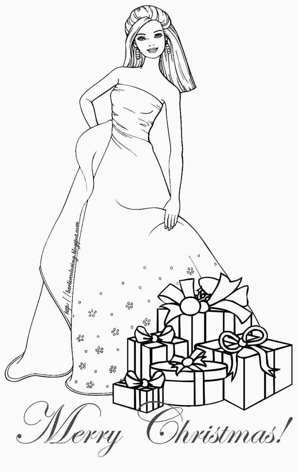 Holiday Barbie Coloring Pages Barbie Coloring Pages Barbie Coloring Cute Coloring Pages [ 1583 x 1001 Pixel ]