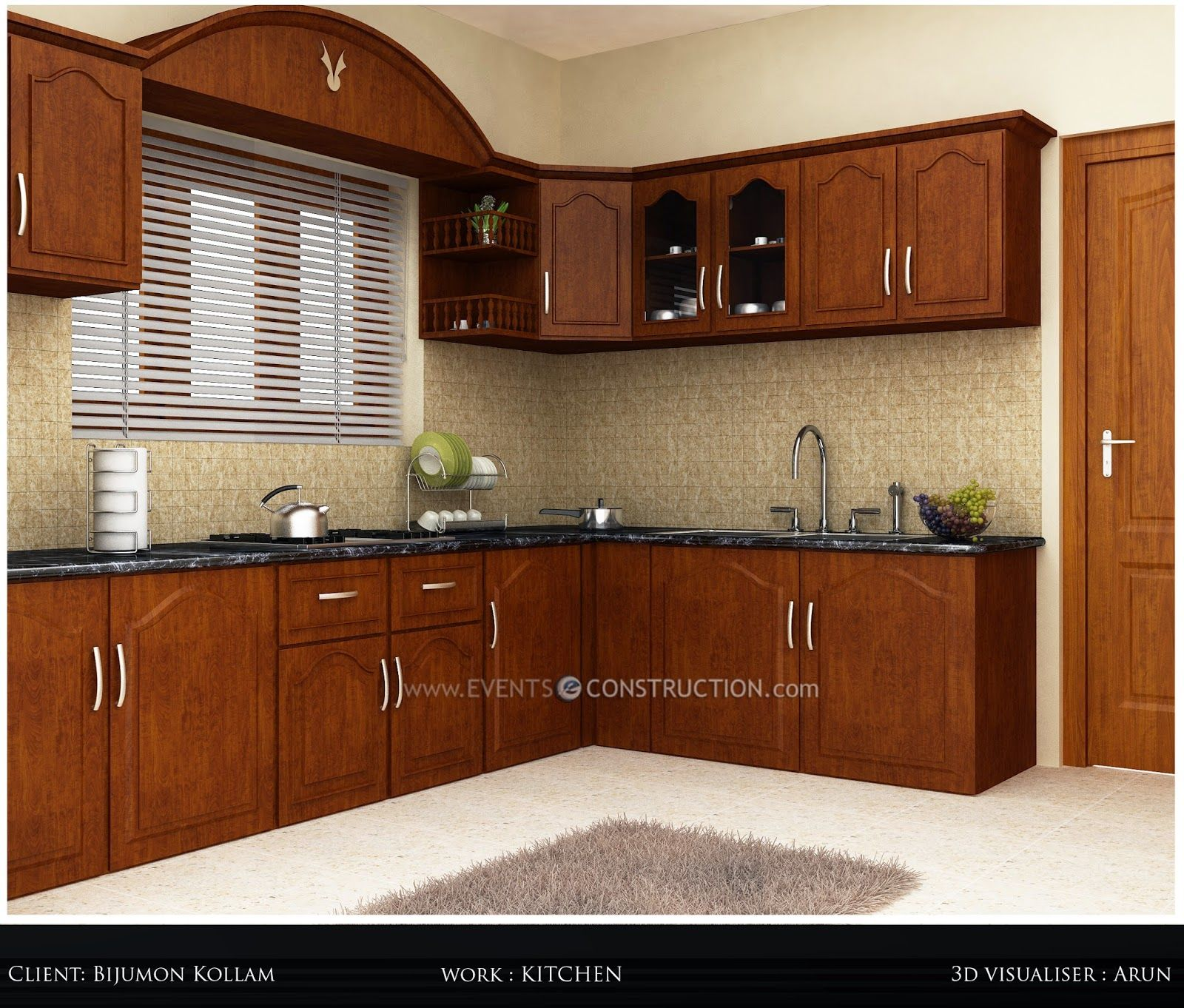New Style Kitchen Design House Construction Planset of dining room