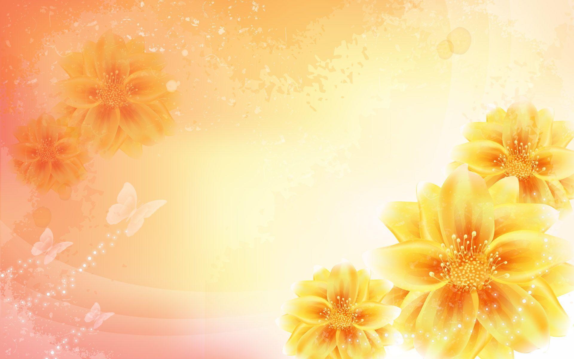 yellow-flower-background-wallpaper-3.jpg (1920×1200) | Backgrounds ... for Light Orange Background Wallpaper  239wja