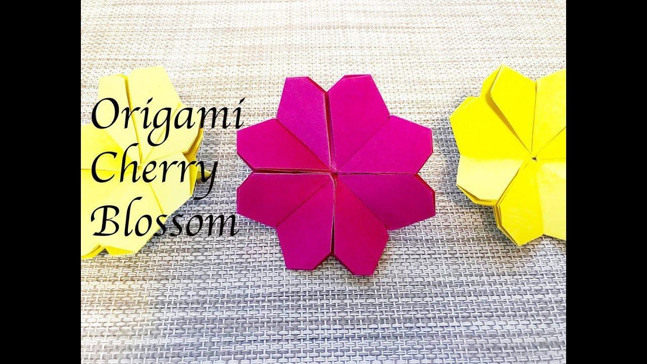 Origami Tutorial - How to fold Origami Cherry Blossom - YouTube   720x1280
