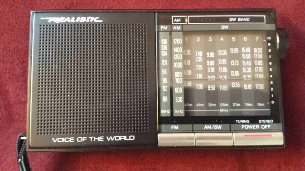 Realistic Dx 342 Voice Of The World 9 Band Am Fm Sw Radio