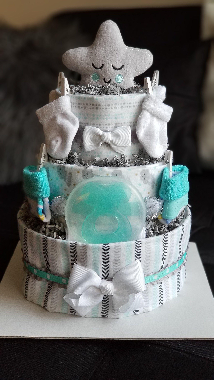 Gender Neutral Diaper Cake By Babygiftsbyjessiej On Etsy Https