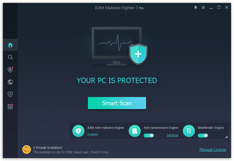 Free Iobit Malware Fighter 7 Pro Key Download Hurry Malware Cyber Threat Intelligence Fighter