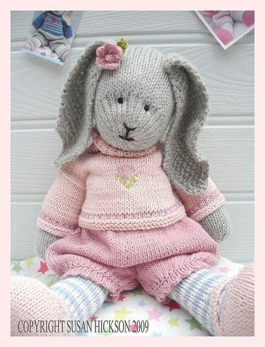 Bunny Knitting Pattern Toy Knitting Pattern Primrose Rabbit Plus