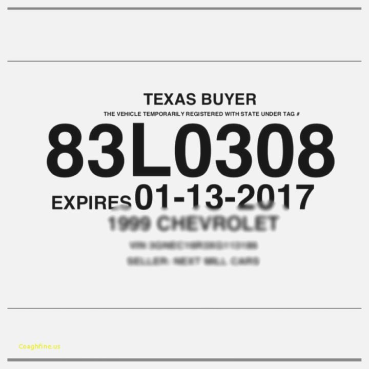 texas paper license plate template texas dealer tag