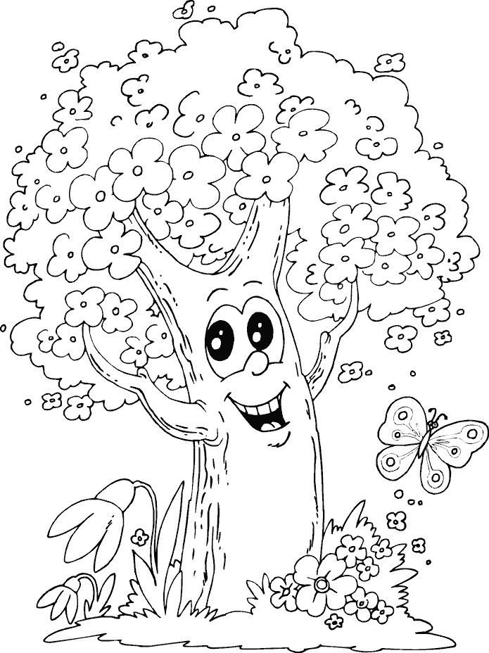 Tree Coloring Page httpfreecoloringpageinfotree coloring page