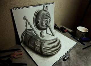 30 Incredible Examples of 3D Pencil Drawings - BlazePress