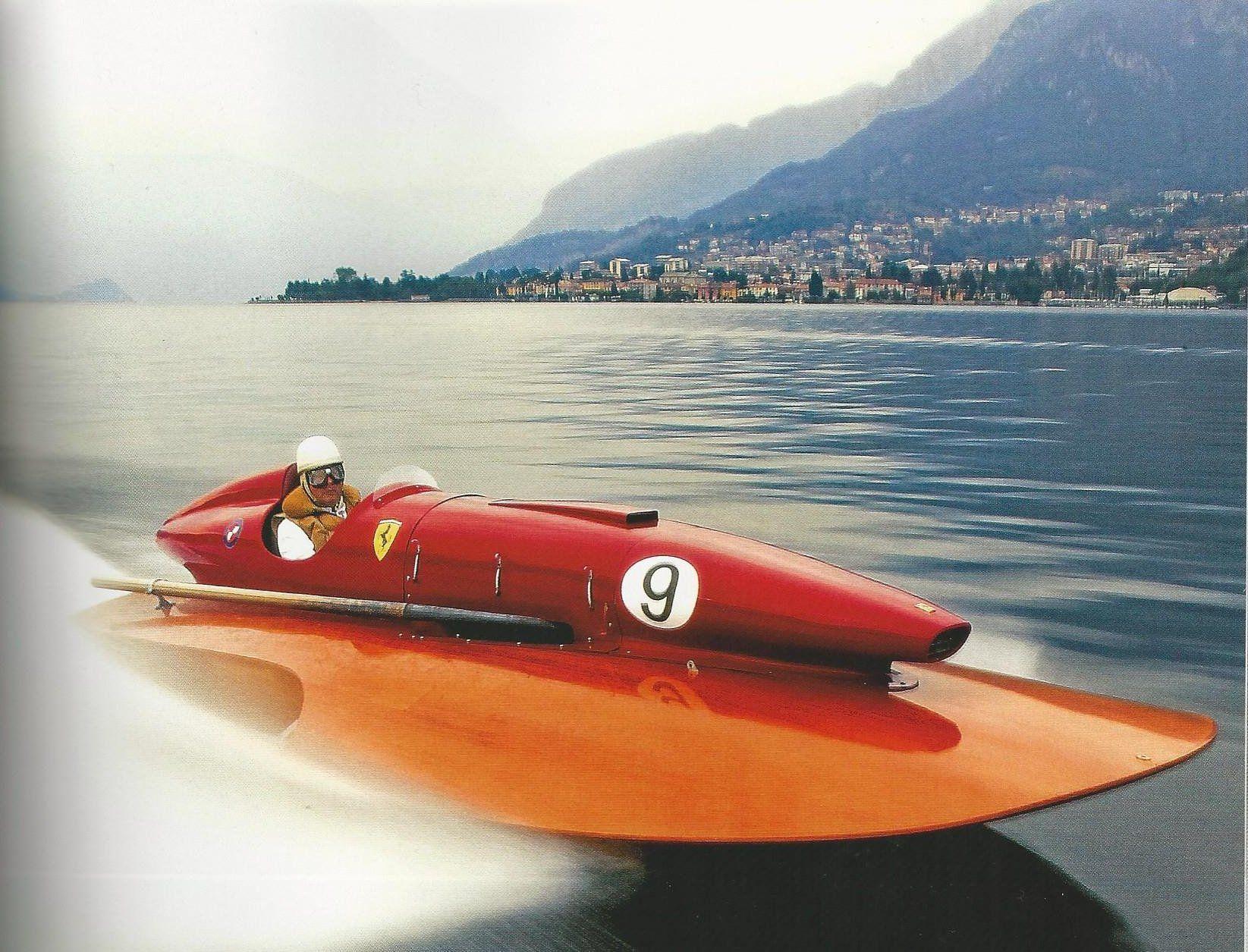 A Ferrari Speed Boat Speed Boats Ferrari Boat Drag Boat Racing
