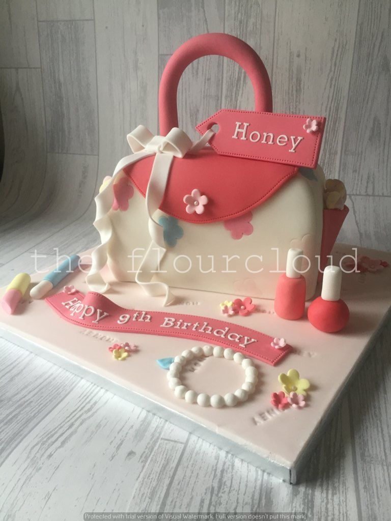 A Gorgeous Pink S Handbag Birthday Cake Complete With All Needs
