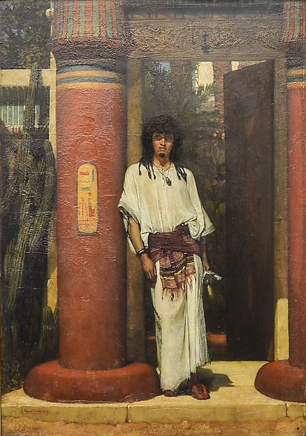 Sir Lawrence Alma Tadema An Egyptian In A Doorway 1865 Oil On Wood Dimensions 22 X 15 1 2 In 55 9 X 39 4 Lawrence Alma Tadema Life In Ancient Egypt Art