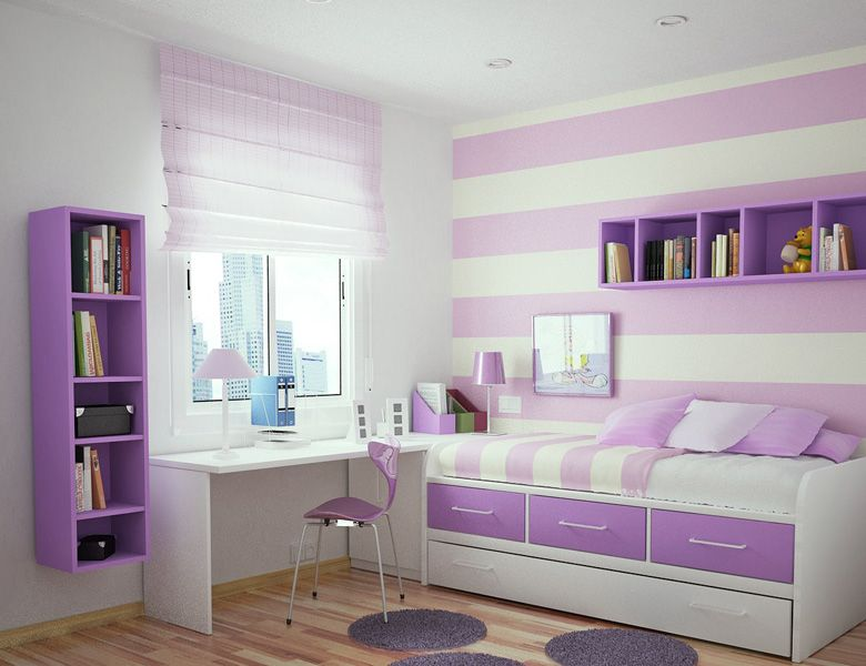 Teenage Girl Bedroom Ideas Purple Part - 15: Cool Teen Bedrooms | Toddler+bedroom+design. Purple Girls ...