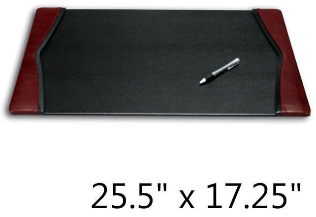 Two Tone Leather Desk Pad 17 25 X 5 Burgundy Black 375 H W D At Harvey Haley For Only 89 52 And Products