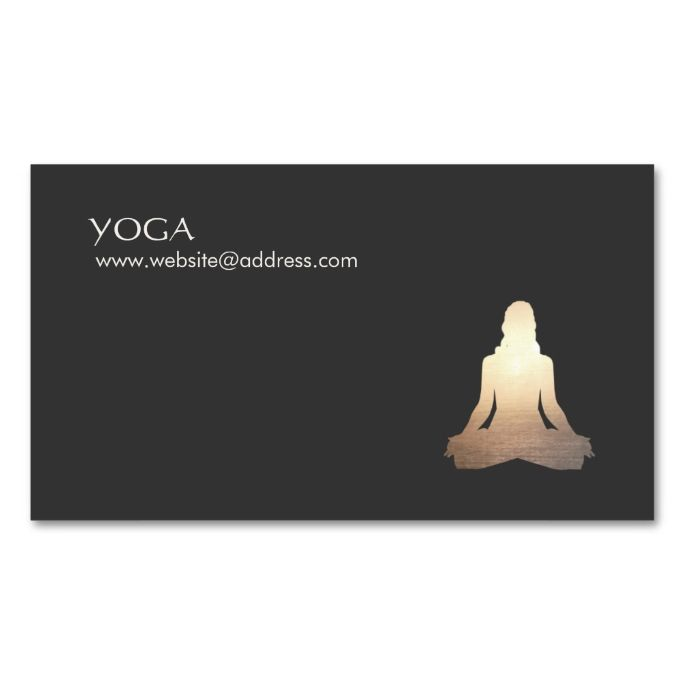 Yoga meditation posture business card pack of standard business yoga meditation posture business card pack of standard business cards make your own business card reheart Image collections