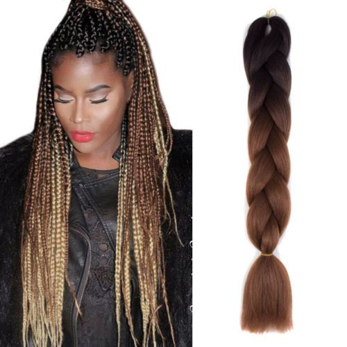 24 034 jumbo braids hair ombre dark brown color synthetic braiding 24 034 jumbo braids hair ombre dark brown pmusecretfo Image collections