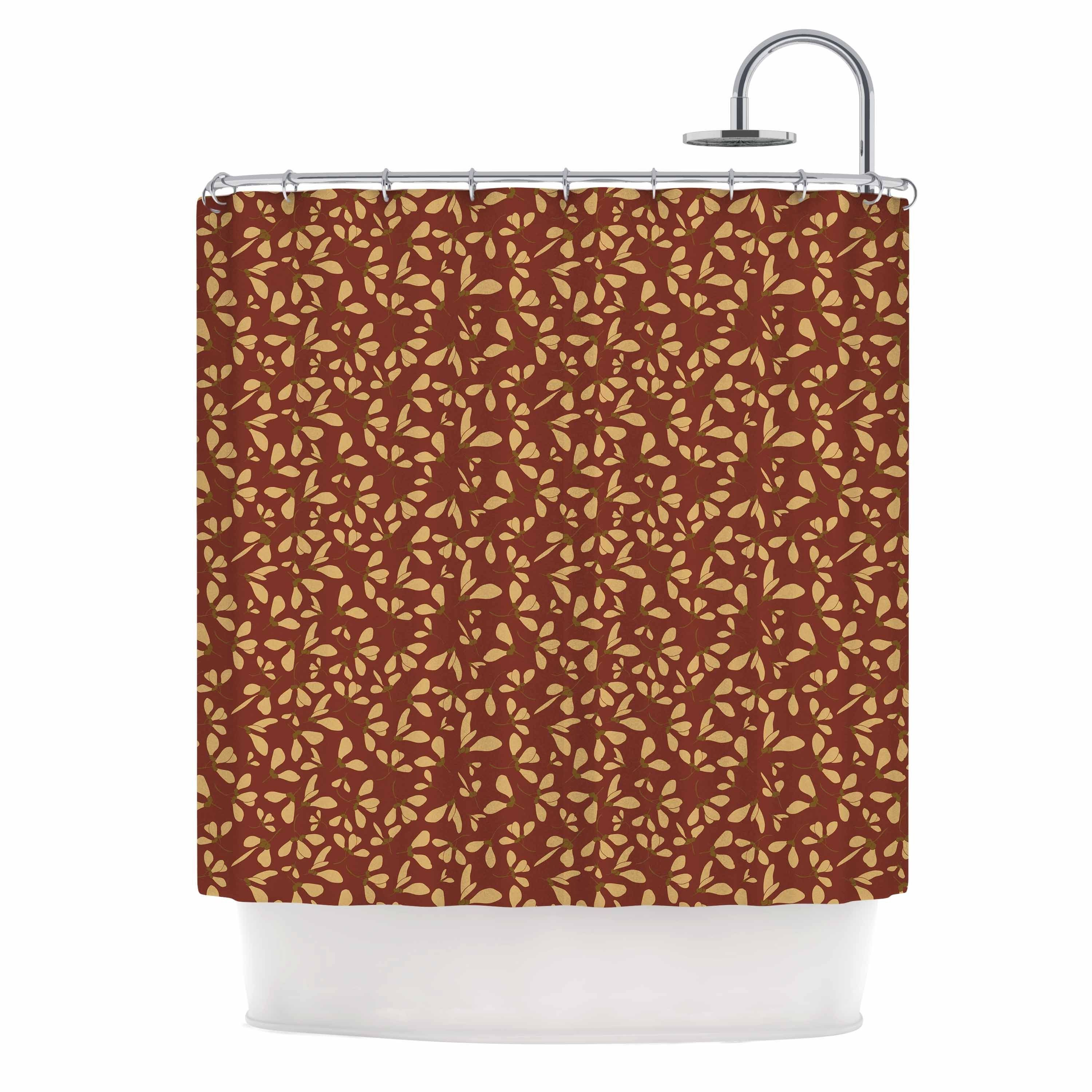Kess InHouse Mayacoa Studio 'Under The Golden Hour' Shower Curtain
