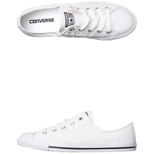 Converse Chuck Taylor Womens All Star Dainty Shoe White ($61