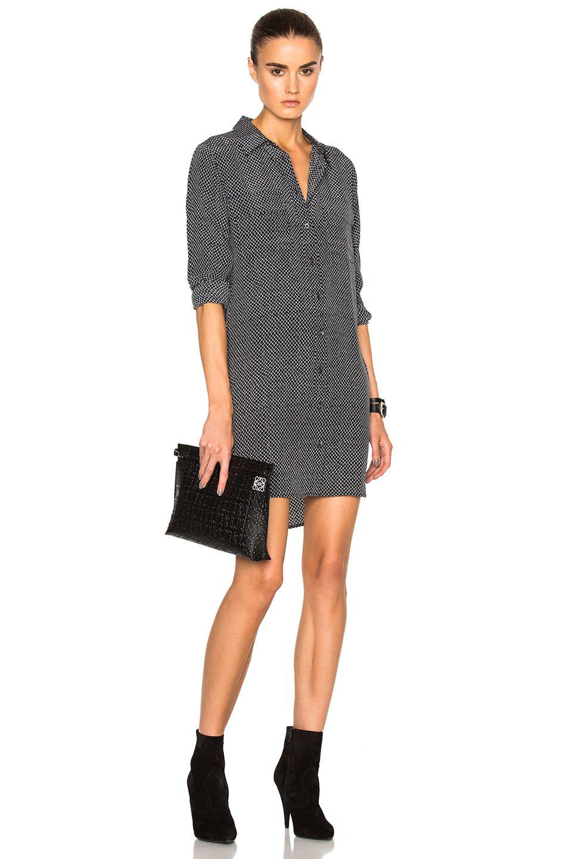 EQUIPMENT Slim Signature Dress. #equipment #cloth #