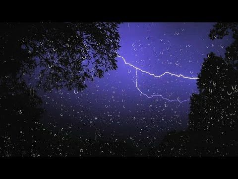 1 thunderstorm and rain sounds on a window 8 hrs thunder sound for