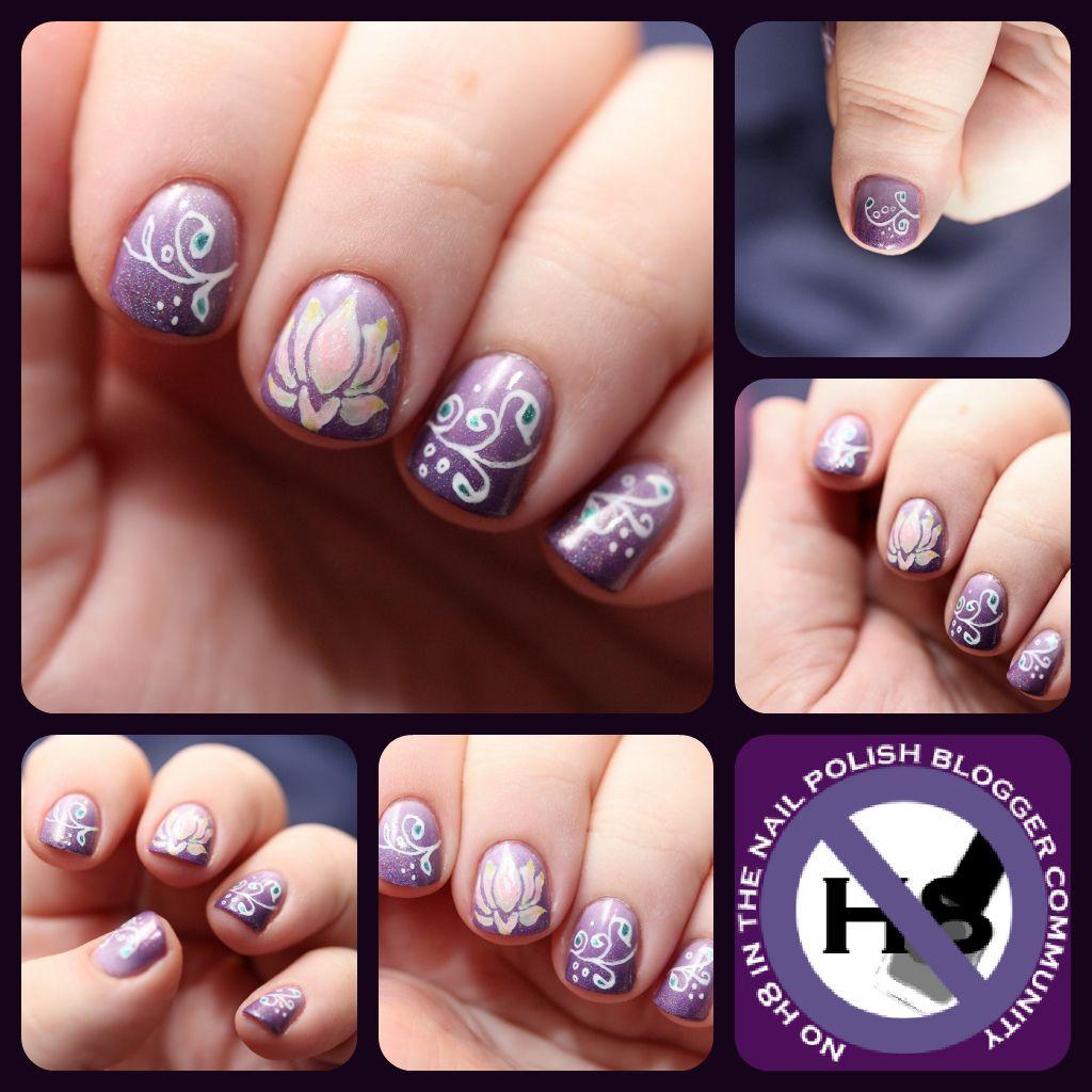 No H8 manicure collage lotus nail art | nails | Pinterest | Manicure ...