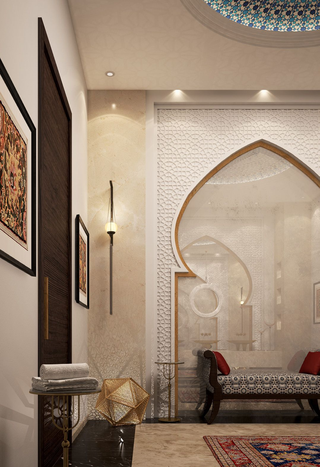Are you in love with this arabic style interior? #NewTakeOnTraditionalStyle  | Arabic decor, Moroccan design, Islamic decor