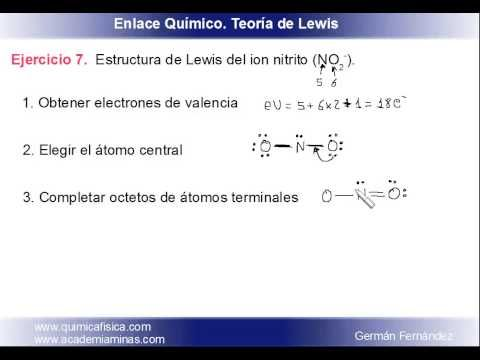 Estructura de Lewis del ion nitrito NO2- - YouTube | Química General ...