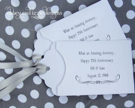Wedding Anniversary Favors 25th Lottery Ticket Party By