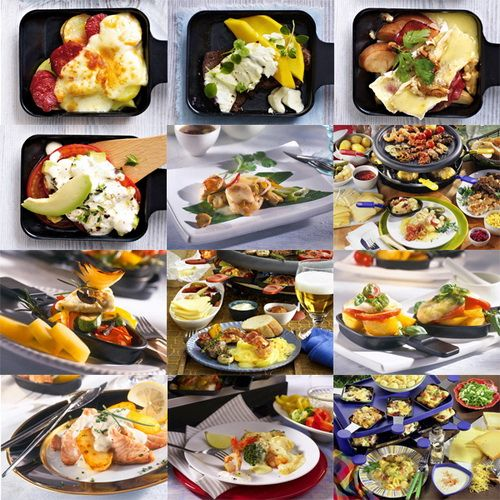 so many ideas for raclette recipes to prepare on the raclette grill raclette recipes tabletop. Black Bedroom Furniture Sets. Home Design Ideas