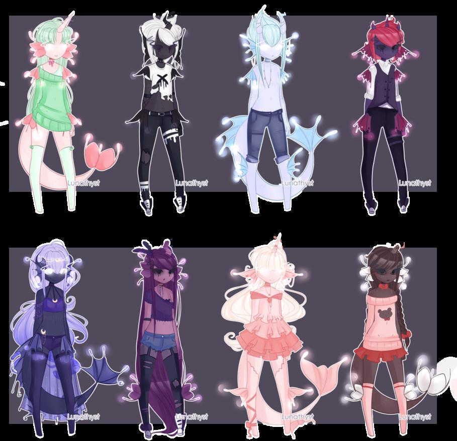 Dextroluma Batch New Traits Closed By Lunathyst Anime Character Design Character Design Inspiration Character Inspiration