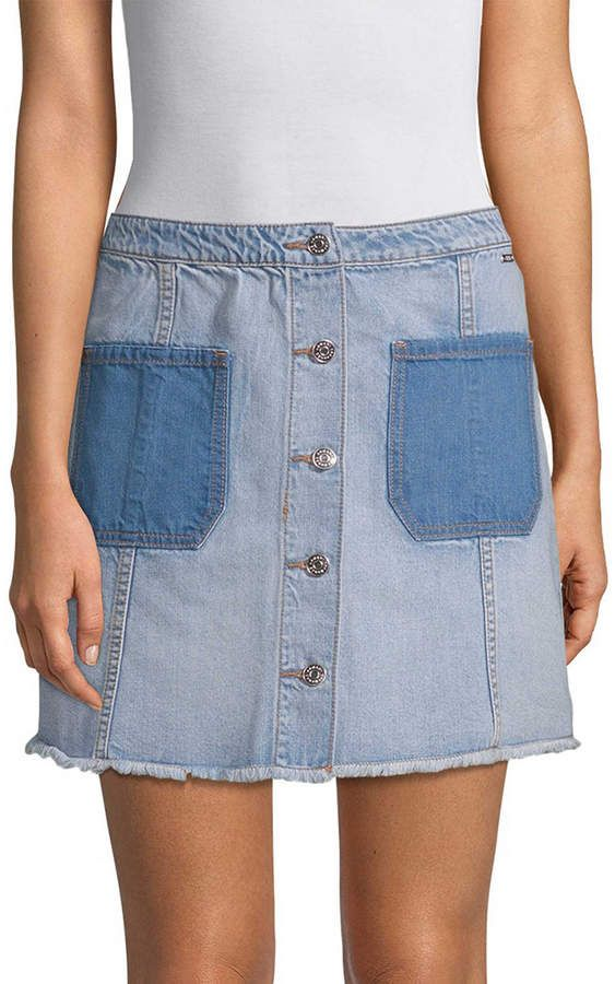 0144f7a388 Armani Exchange Denim Button-Front Skirt | Products