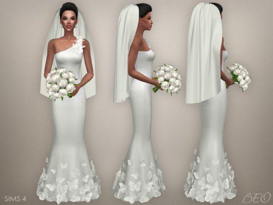 vestidos de novia sims 4 – mini vestidos