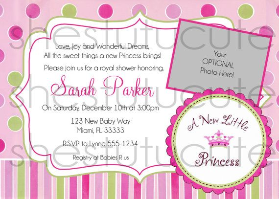 A New Little Princess Baby Shower Invitation By Shestutucutebtq On