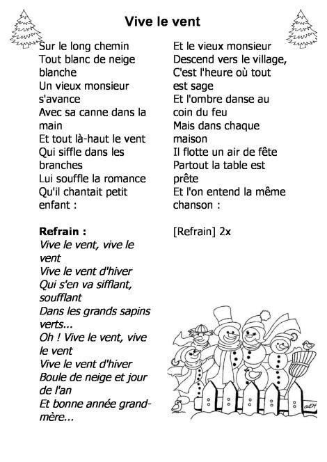 Chanson De Noel Pour Enfant : chanson, enfant, Paroles, Chansons, Noël, Französisch,, Französischunterricht,, Französische, Gedichte