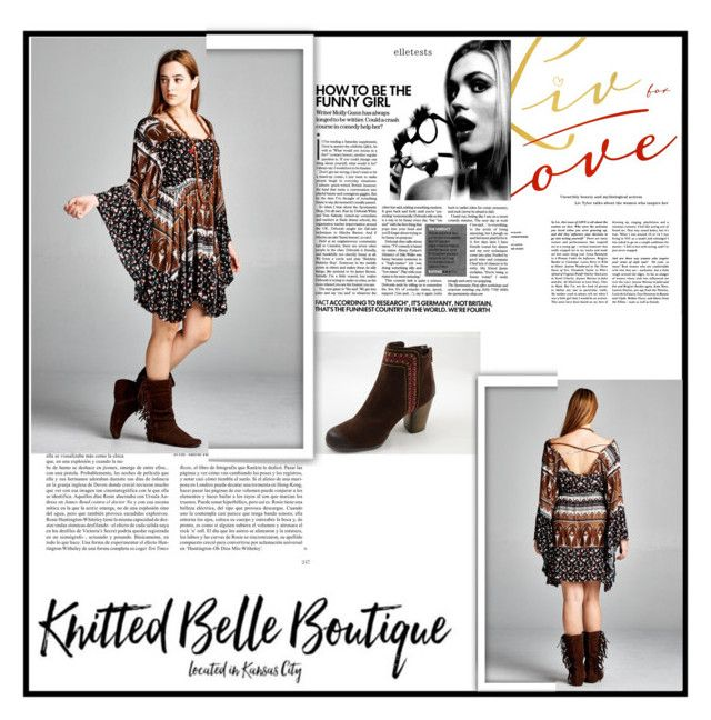 """Knitted Belle Boutique 3"" by djulovic-mirela ❤ liked on Polyvore featuring Whiteley and Velzera"