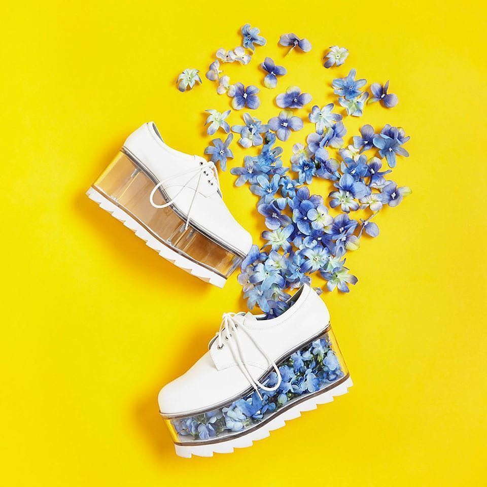 Fill these fun flatforms with whatever you'd like! #modcloth #shoelove by modcloth