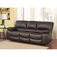 Riley Top Grain Leather Reclining Sofa Leather Living Room Set Living Room Leather Leather Reclining Sofa