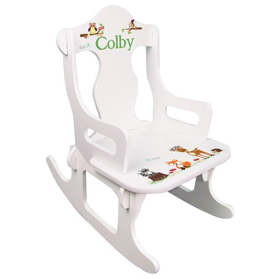 Awe Inspiring Personalized Childs Rocking Chair White Custom Puzzle Rocker Bralicious Painted Fabric Chair Ideas Braliciousco