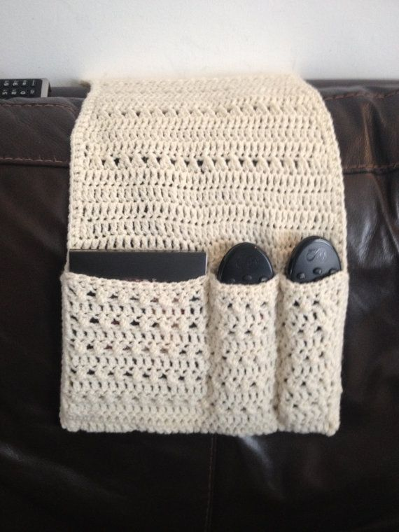 Handmade Crochet Remote Control Holder/tidy/living | pot holders ...