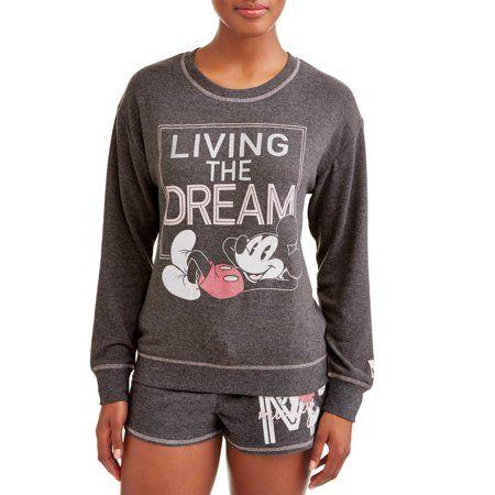 dd139bf1 Disney - Women's and Women's Plus Mickey Mouse Pajama Set - Walmart.com