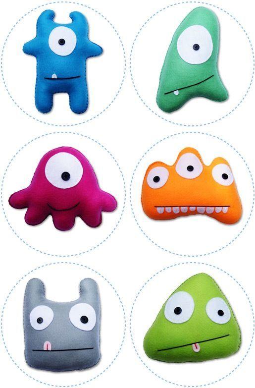 Resultado de imagen de patrones monsters fieltro | Monstruos Gaby ...