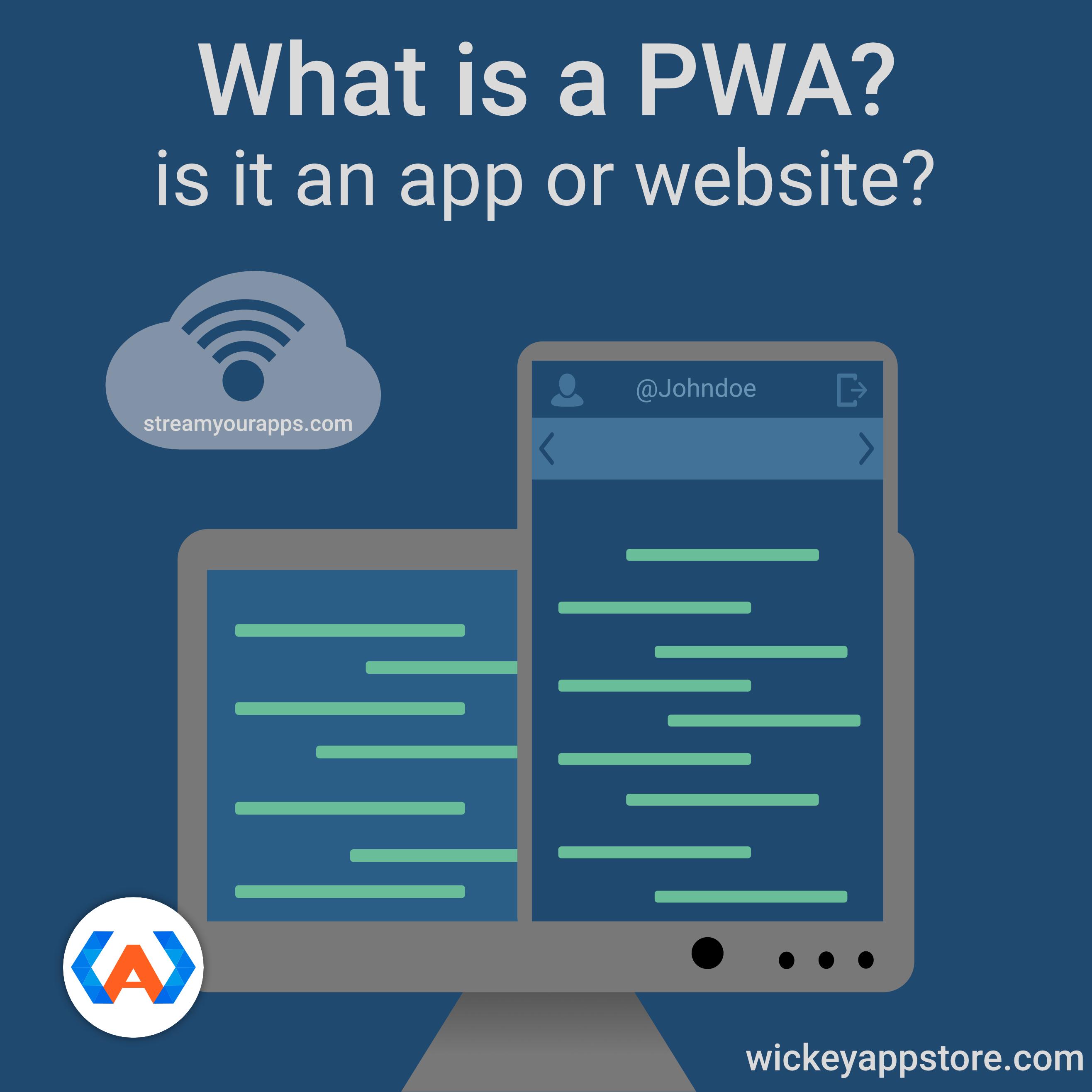 Progressive Web Apps or PWA's are a hybrid of a native app