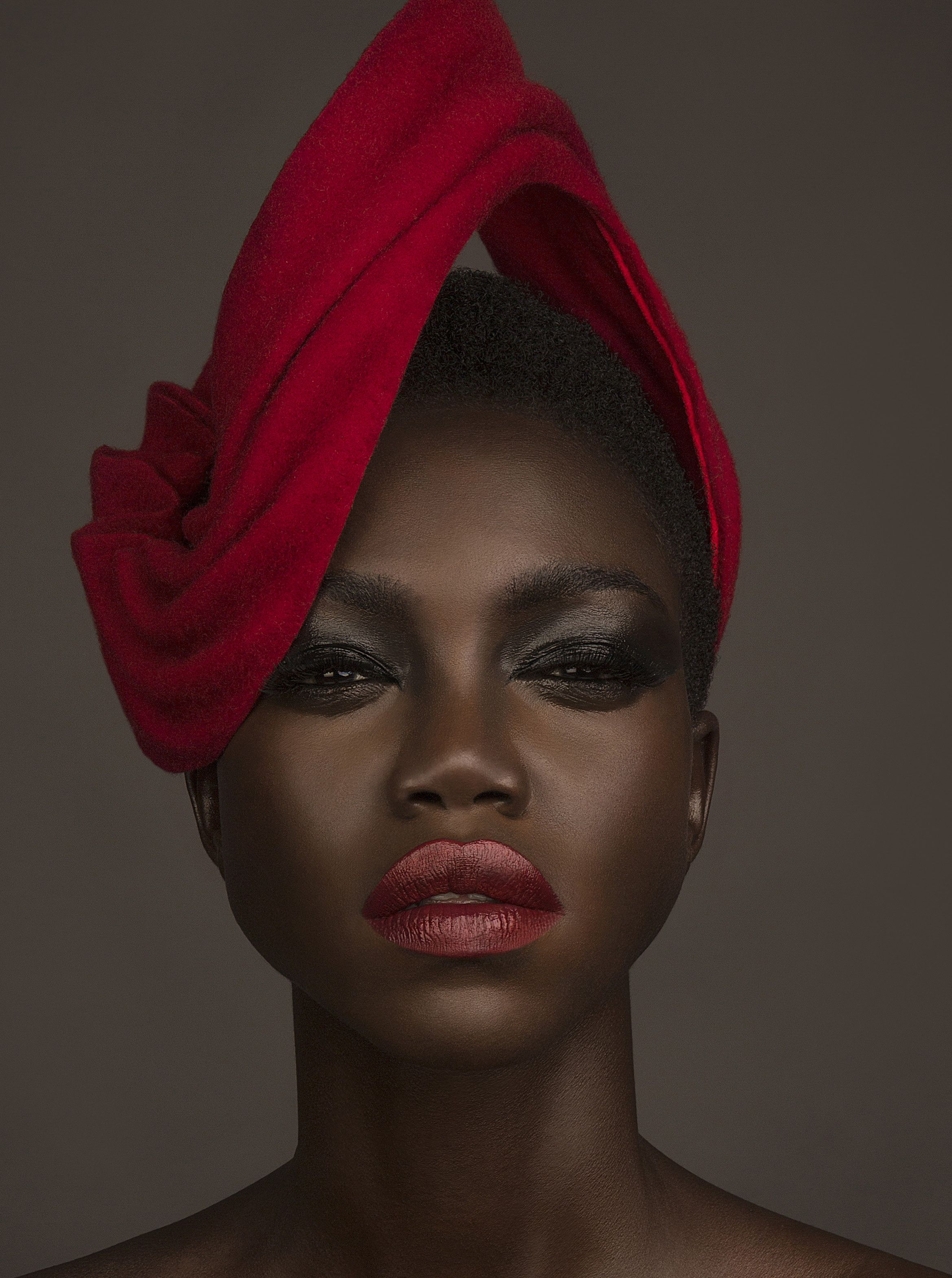 Fave Magazine   Photography by Mike Ruiz  Headpieces by Penny Chu at www.chuchuny.com  Model Nyamouch Griwath   Makeup by Eliza Davila